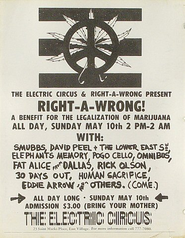 Right-A-Wrong Benefit Handbill
