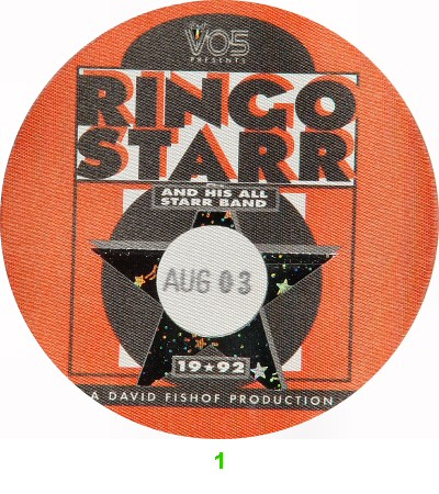 Ringo Starr Backstage Pass