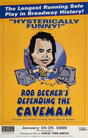 Rob Becker's Defending the CavemanPoster