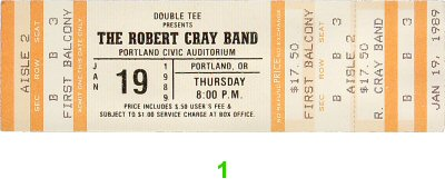Robert Cray Band 1980s Ticket