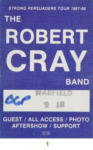 Robert Cray BandBackstage Pass