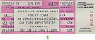 Robert Plant 1980s Ticket