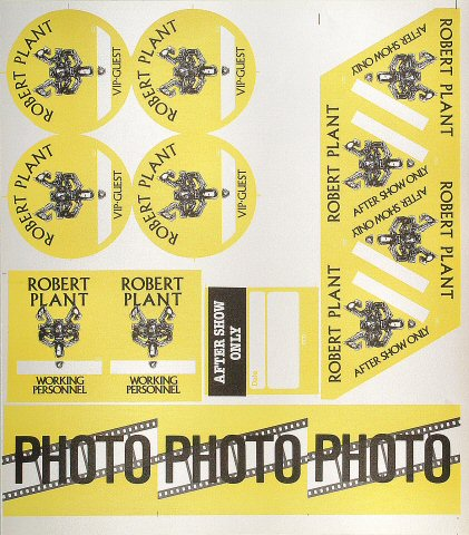 Robert Plant Backstage Pass