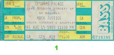 Rock Justice1980s Ticket