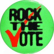 Rock The Vote Vintage Pin