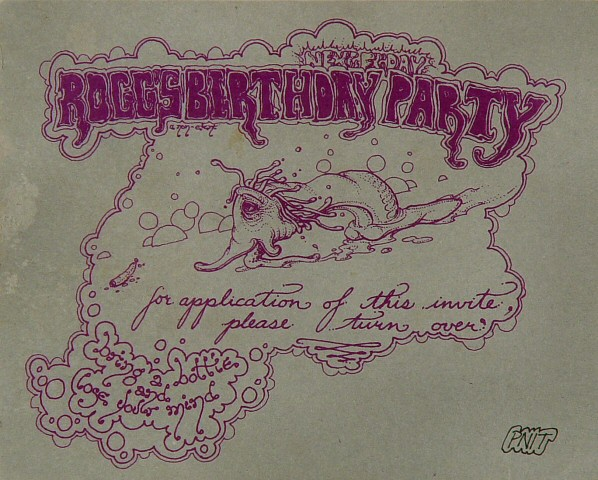 Rogg's Birthday Party Handbill