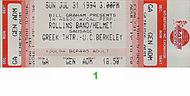Rollins Band 1990s Ticket