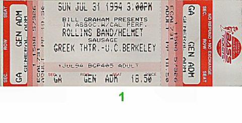 Rollins Band Vintage Ticket
