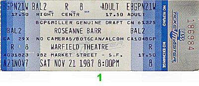 Roseanne Barr1980s Ticket