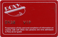 Roxy VIP Backstage Pass
