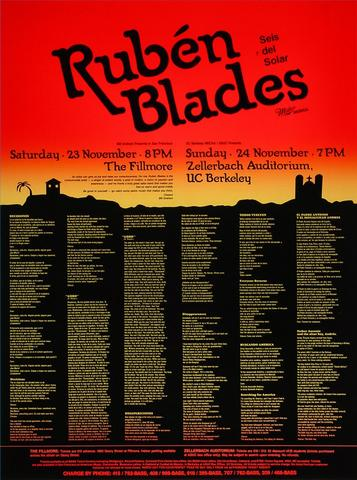 Ruben Blades y Son de Solar Poster
