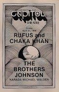 Rufus & Chaka Khan Program