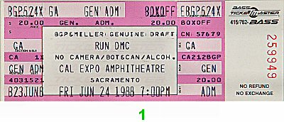 RUN-D.M.C.1980s Ticket