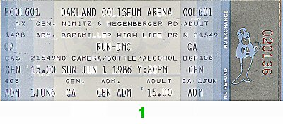 Run-D.M.C.1980s Ticket
