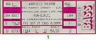 Red Hot Chili Peppers 1980s Ticket