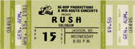 Rush 1980s Ticket