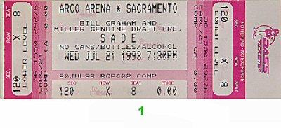 Sade1990s Ticket