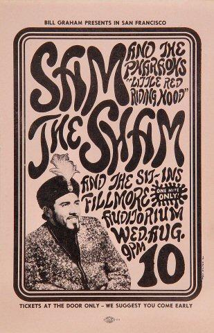 Sam the Sham &amp; the Pharoahs Handbill