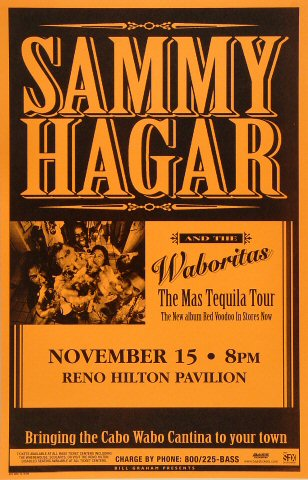 Sammy Hagar &amp; the WaboritasPoster