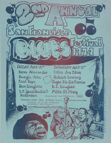 San Francisco Blues Festival Handbill