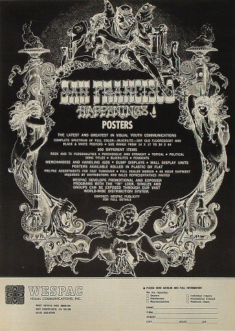 San Francisco Happenings Poster Poster