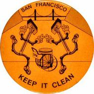 San Francisco Keep It Clean Vintage Pin