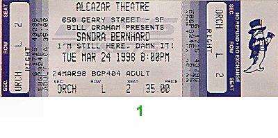 Sandra Bernhard1990s Ticket