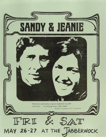 Sandy & Jeanie Handbill