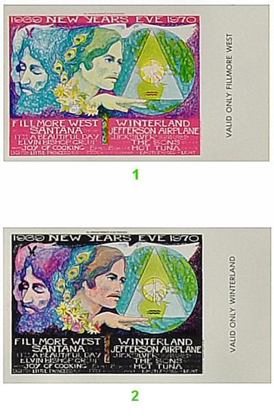 Santana1960s Ticket