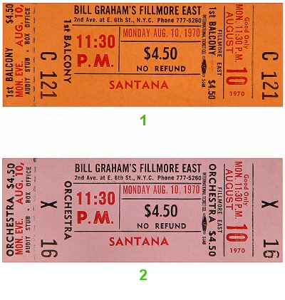 Santana1970s Ticket