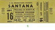 Santana 1970s Ticket