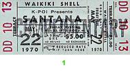 Santana 1970s Ticket