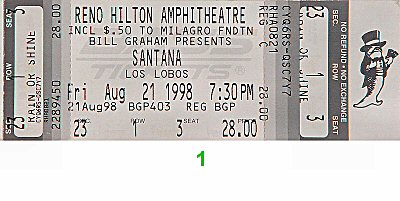 Santana1990s Ticket