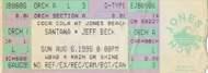 Jeff Beck 1990s Ticket
