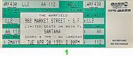 Santana 1990s Ticket