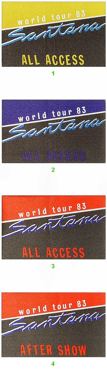 SantanaBackstage Pass