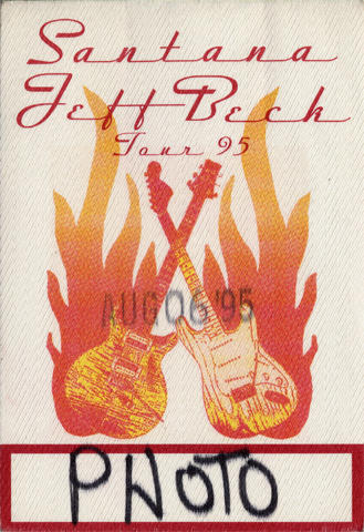 Jeff Beck Backstage Pass