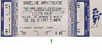 Sarah McLachlan1990s Ticket