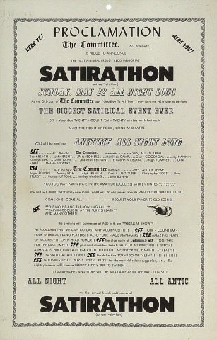 SatirathonPoster