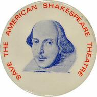 Save the American Shakespeare Theatre Vintage Pin