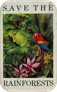 Save The Rainforests Vintage Pin