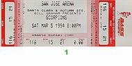 Scorpions 1990s Ticket