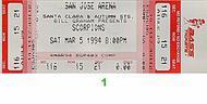 Scorpions 1990s Ticket