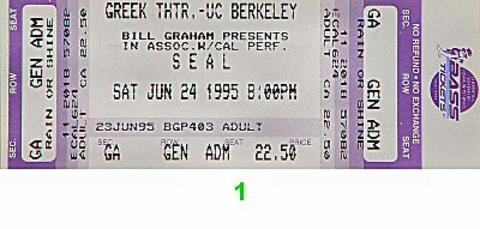 Seal Vintage Ticket