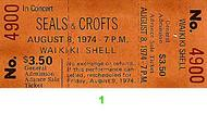 Seals &amp; Crofts 1970s Ticket