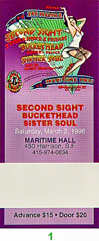 Second Sight 1990s Ticket