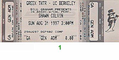 Shawn Colvin1990s Ticket