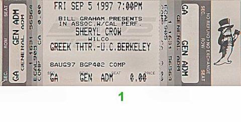 Wilco Vintage Ticket
