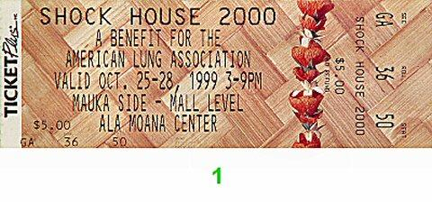 Shock House 2000 Vintage Ticket