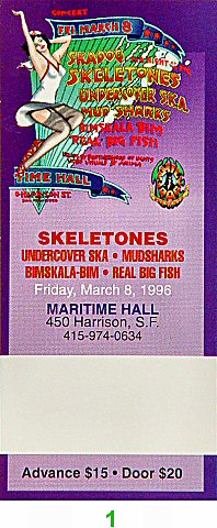 Skeletones 1990s Ticket